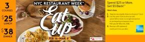 Restaurant Week New York City – Feb 16 – Mar6
