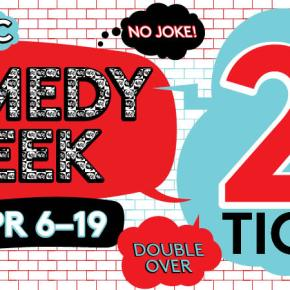 NYC Comedy Week 2 for 1 Tickets week – April 6-19,2015